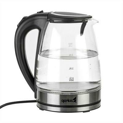 1.8L Glass Water Coffee Fast Boiling LED