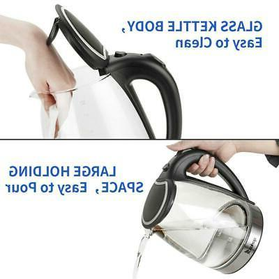 1.8L Electric Water Tea Coffee Fast Boiling Shut-off LED