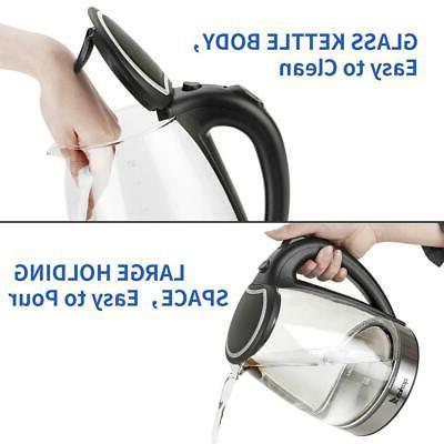 1500W Electric Kettle Glass Tea Fast