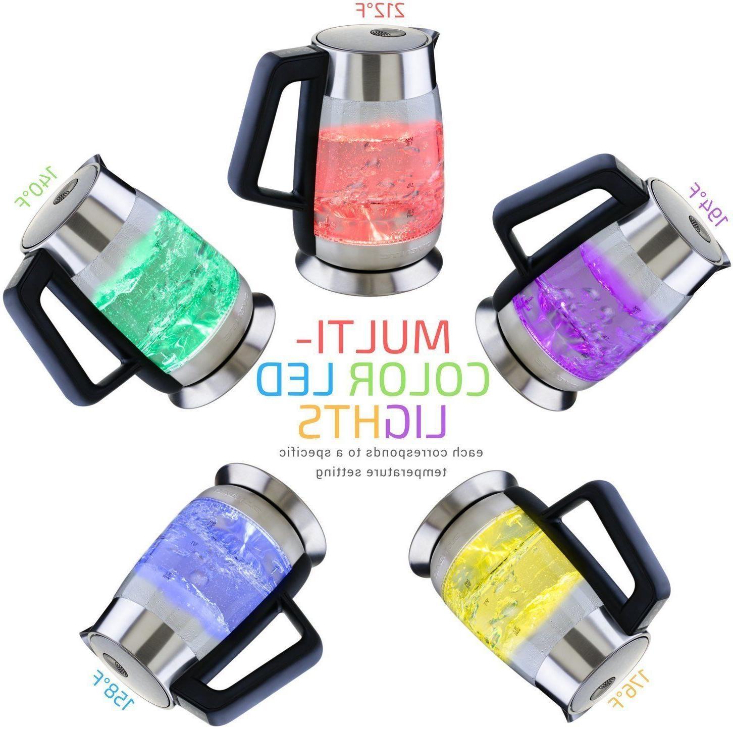 Ovente 1.8L Electric Tea Kettle Temperature BPA