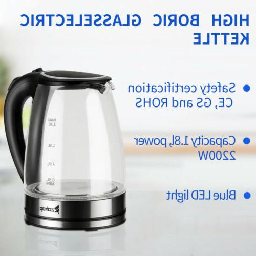 ZOKOP Glass Electric Tea LED Fast Boiling BPA-Free