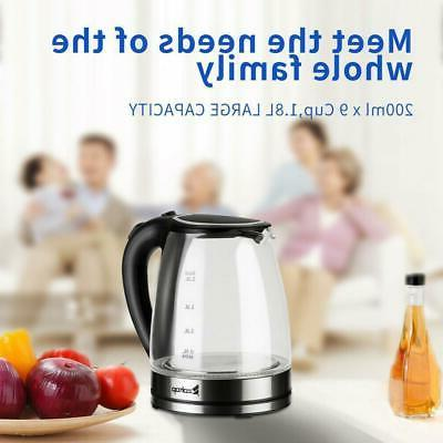 1 8l electric kettle glass water tea