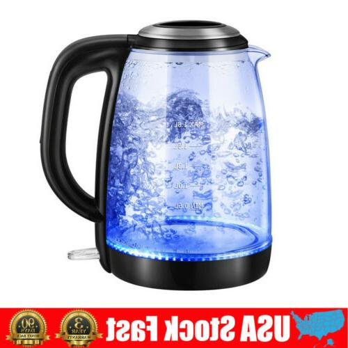 1 8l electric kettle glass portable water