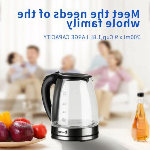 1.8L Electric Tea Kettle Auto-Shut-off Boiling LED