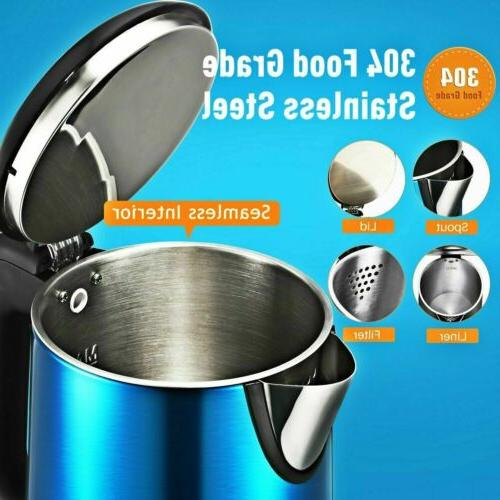 1.8L Steel Electric Kettle Tea Boiling Auto LED