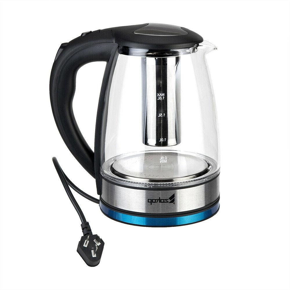 1.8L Glass Electric Kettle Fast Tea Hot Pot