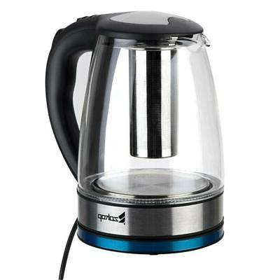 ZOKOP 1.8L Glass Tea Light Fast Boiling Filter