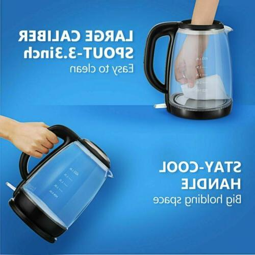 VTIN Electric Glass Kettle Water Fast Boiler Tea Pot LED 2019