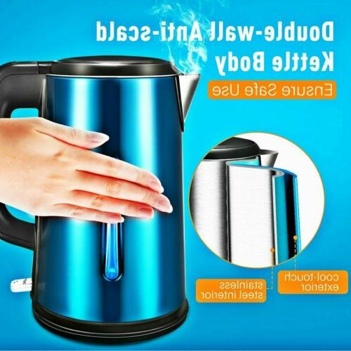 1 8l stainless steel cordless electric kettle