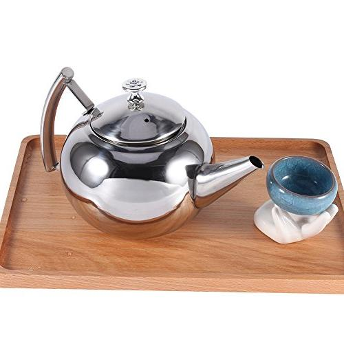 Funnytoday365 1 Steel Coffee Teapot With Strainer Steel Water Barista