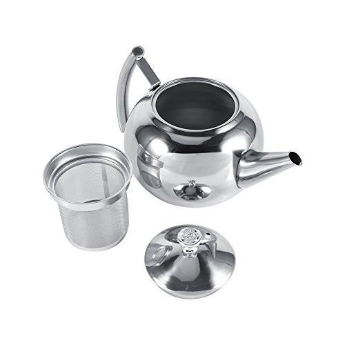 1 stainless steel tea pot