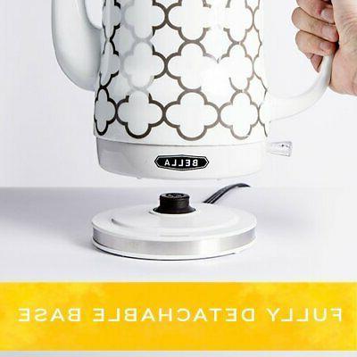 BELLA 1.2 Liter Ceramic Tea Kettle Detachable