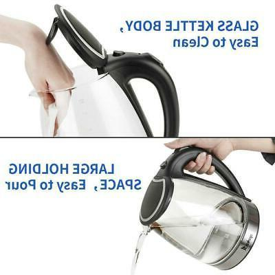 1500W Glass Kettle Tea Boiler Fast Light