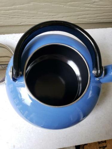 1994 Copco Blue 2 1/2 Quart featuring Harmonic Whistle