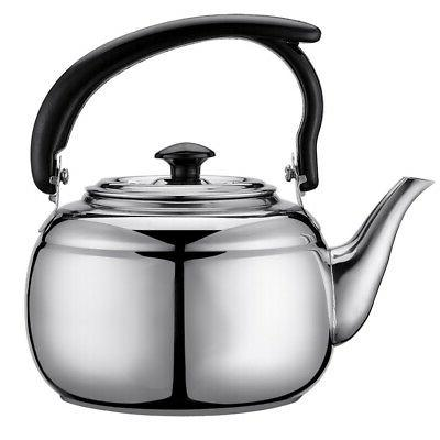 US Steel Water Tea Pot Coffee Kettle Outdoor Kitchen Supplies