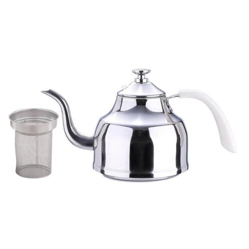 1L Stainless Steel Kettle Coffee Water Tea Pot Cookware Stov