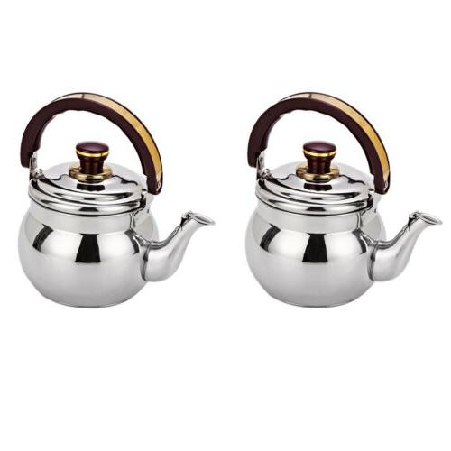 1L Stainless Steel Whistling Tea Kettle Hot Water Pot for Ca