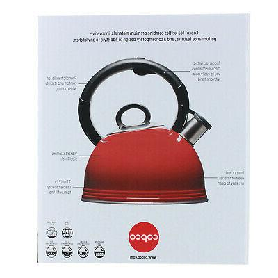Copco 2.1 Stainless Tea Kettle with Gloss