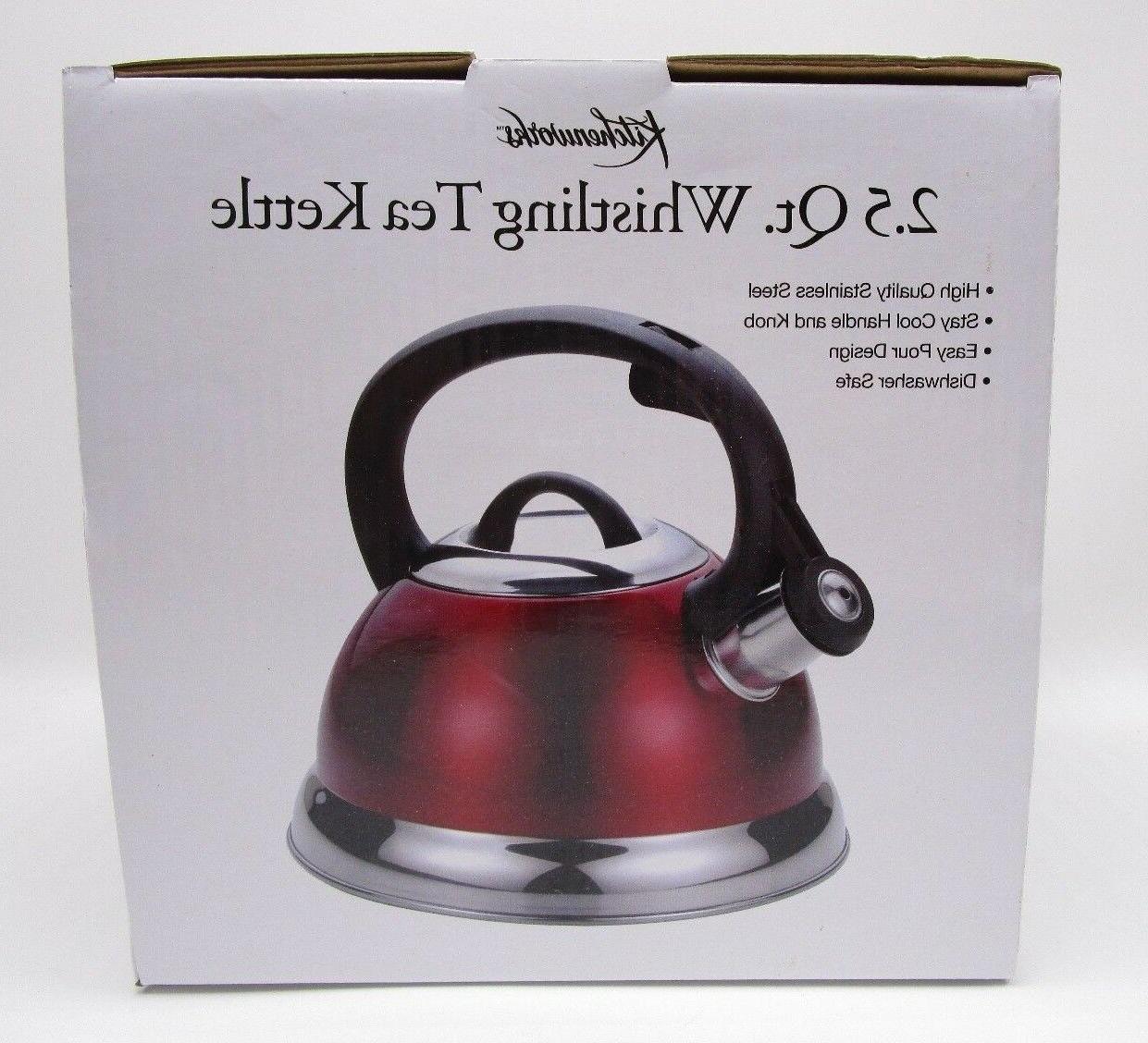 Kitchenworks Qt Tea Kettle Brushed Steel