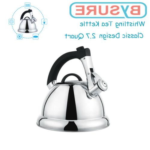 2.75QT/3L Stainless Steel Whistling Tea Kettle Classic Desig