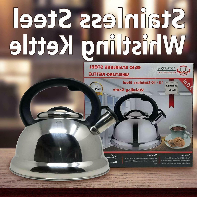 2.9 Steel Whistling Tea Kettle Tea Maker Durable,