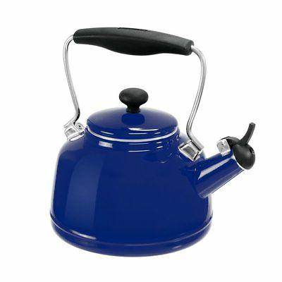 Chantal 2 Qt. Vintage Tea Kettle Cobalt Blue