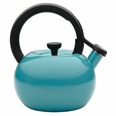 Circulon 2-Quart Circles Teakettle, Capri Turquoise, Blue, S
