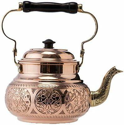 2 variations 2017 hammered copper tea pot