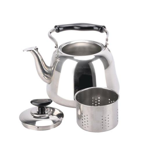 Stainless Steel Whistling Kettle with Infuser Stovetop Teake