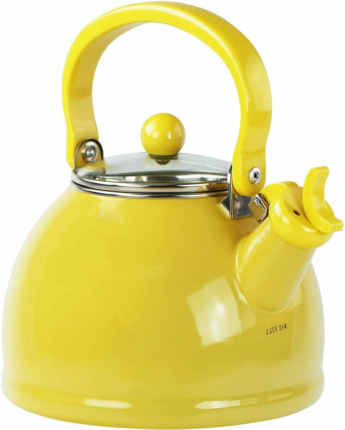 Reston Lloyd 60201 Lemon - Whistling Tea Kettle With Glass L