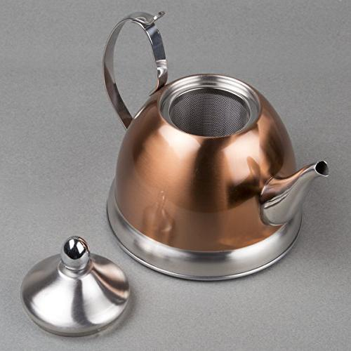 Creative Home Qt. Copper Kettle with Removable Basket