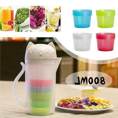 800ml 4Cup Tea Kettle Juice Teapot