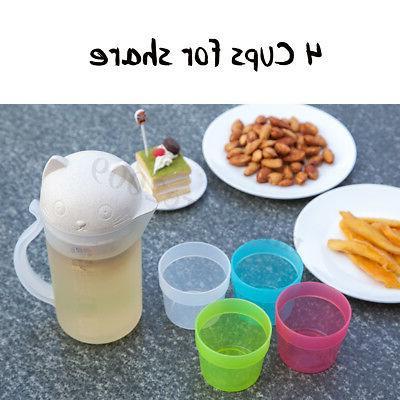 800ml 4Cup Bottle Juice Teapot