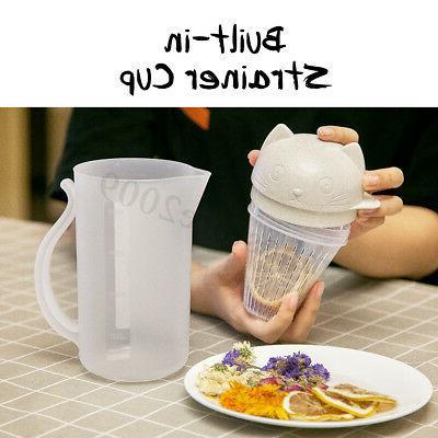 800ml Portable Cat 4Cup Kettle Juice Teapot