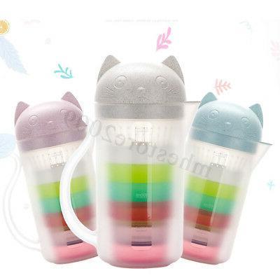 800ml Strainer 4Cup Bottle Kettle Juice Mug Teapot