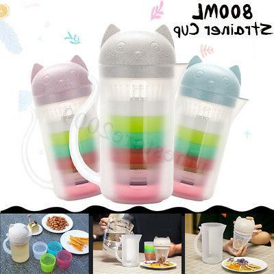 800ml portable cat strainer 4cup bottle tea