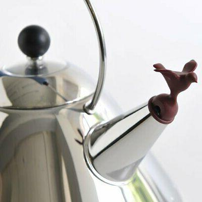 Alessi Michael Graves Kettle with Bird Whistle, Blue Handle