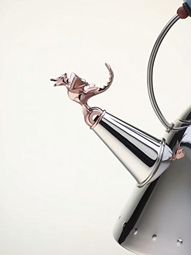 "Alessi""Tea Kettle 18/10 Stainless Polished Prehistoric Reptilian Whistle Pa,"