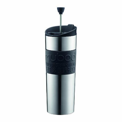 Bodum Travel Press, Stainless Steel Travel Coffee and Tea Pr