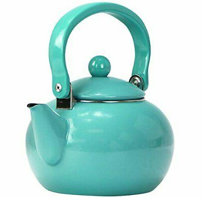 Calypso Basics by Reston Lloyd Enamel-on-Steel Tea Kettle, 2