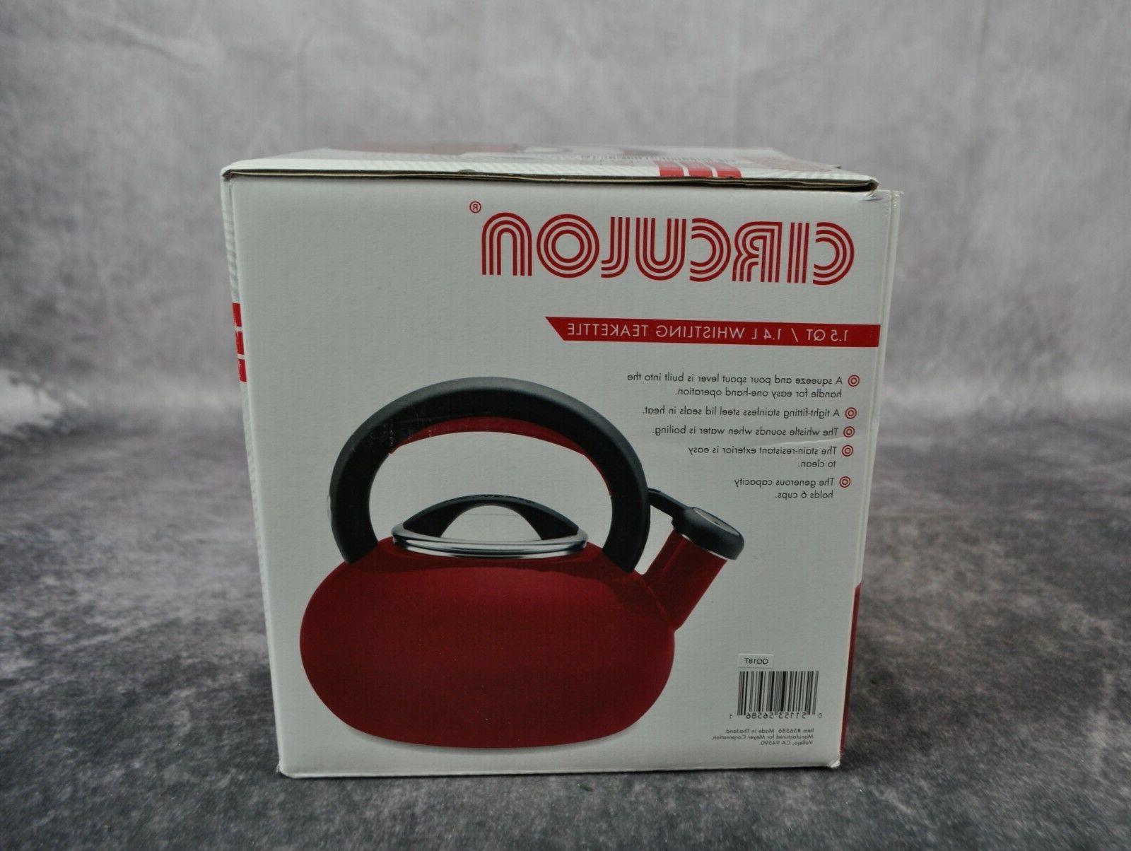 Circulon - Sunrise 1.5-quart Tea Kettle - Rhubarb Red