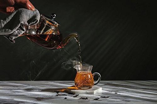 Hiware & Lid, Borosilicate Tea Kettle Blooming & Teapots, 800
