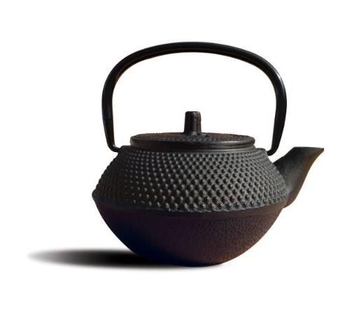 Old Dutch Mini Cast Iron Tokyo Teapot, 11-Ounce, Black