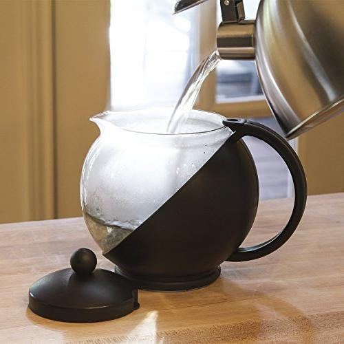 Primula Flowering Tea Wide Mouthed Temperature Glass oz. – Black 3 Dishwasher