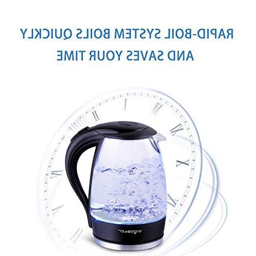 Aigostar Adam - Electric Water 1.7L 57OZ Kitchen Led