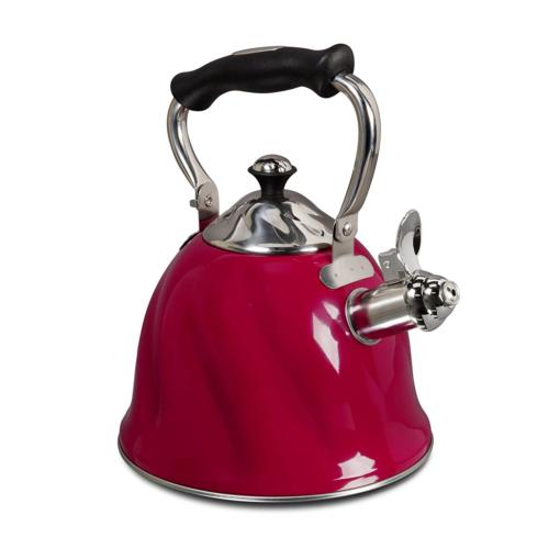 Gibson Alderton 2.3 quart Whistling Tea Kettle, Red