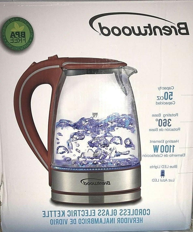 appliances kt 1900r tempered glass tea kettles