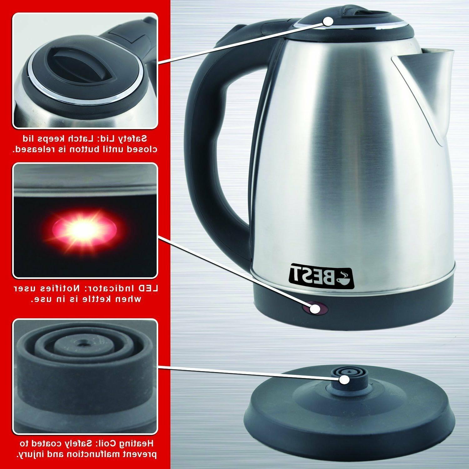 Electric Coffee Pot BOIL Stainless 2.0L