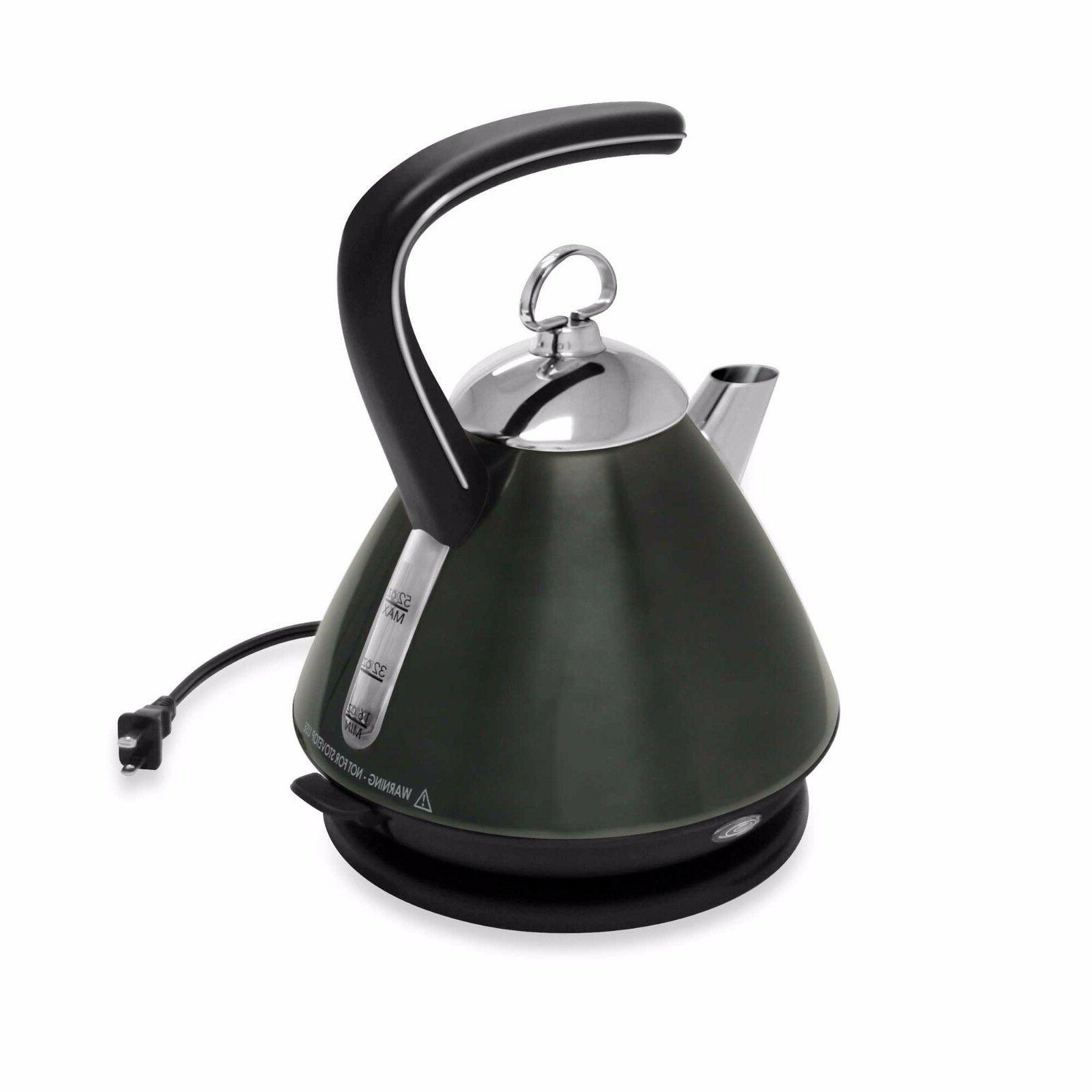 Black 52 Ounce Ekettle Automatic Shut Off Angled Spout Elect
