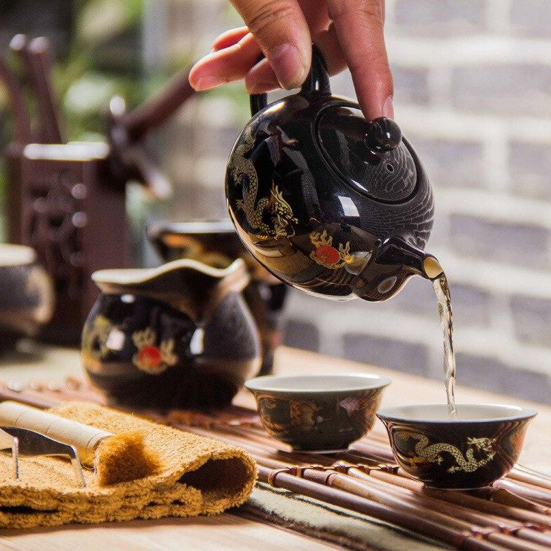 Black pot Chinese TeaPot Teapot easy teapot <font><b>kettle</b></font> <font><b>Ceramic</b></font> Kung Fu